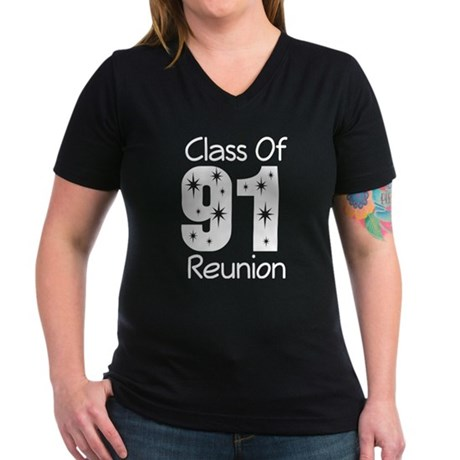 Class of 1991 Reunion Women's V-Neck Dark T-Shirt