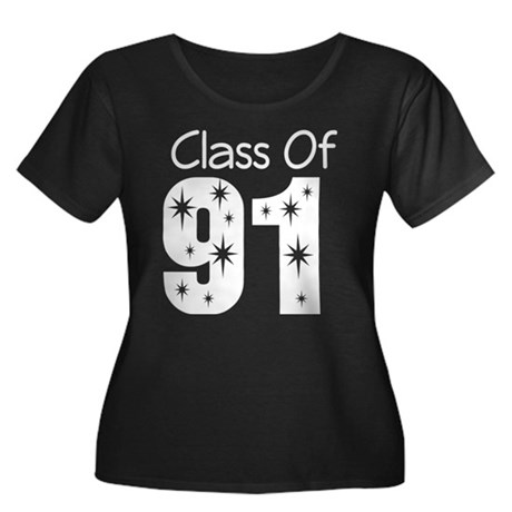 Class of 1991 Women's Plus Size Scoop Neck Dark T-