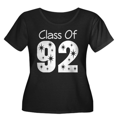 Class of 1992 Women's Plus Size Scoop Neck Dark T-