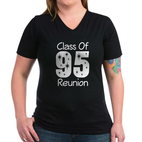 Class of 1995 Reunion Women's V-Neck Dark T-Shirt