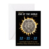 End of World Greeting Card Greeting Card