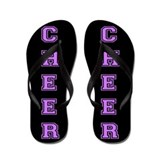 Cheer Black and Purple Flip Flops