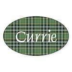 Tartan - Currie Sticker (Oval 50 pk)