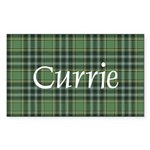 Tartan - Currie Sticker (Rectangle 50 pk)