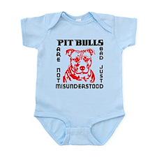 PIT BULLS ARE NOT BAD Infant Bodysuit