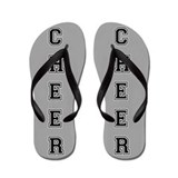 Cheer Gray and black Flip Flops