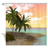 Dreamy Desert Island Shower Curtain