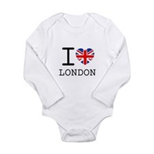 Funny Vintage london Long Sleeve Infant Bodysuit