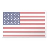 USA American Flag Rectangle Decal