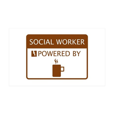 Social Worker Powered by Coffee 35x21 Wall Decal