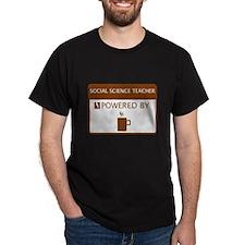 Social Science Teacher Powered by Coffee T-Shirt