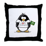 Washington Penguin Throw Pillow