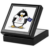 Utah Penguin Keepsake Box