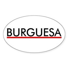 Burguesa Oval Decal