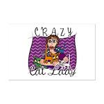 Crazy Cat Lady Mini Poster Print