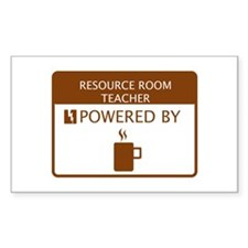 Resource Room Teacher Powered by Coffee Decal