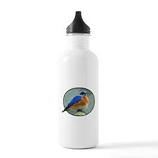 Bluebird in Oval Frame Water Bottle