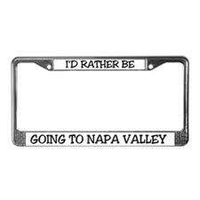 Rather Be Going to Napa Valley License Plate Frame