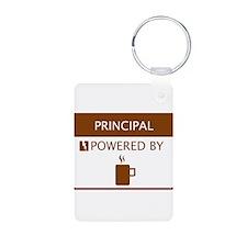 Principal Powered by Coffee Aluminum Photo Keychai
