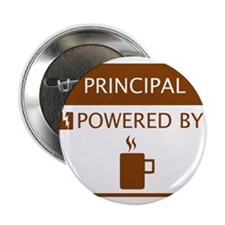 "Principal Powered by Coffee 2.25"" Button"