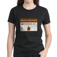 Police Sergeant Powered by Coffee Tee