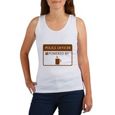 Police Officer Powered by Coffee Women's Tank Top