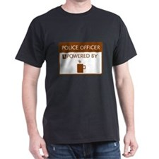 Police Officer Powered by Coffee T-Shirt