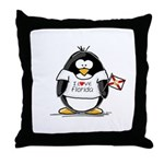 Florida Penguin Throw Pillow