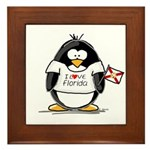 Florida Penguin Framed Tile