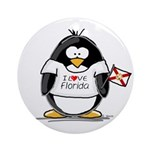Florida Penguin Ornament (Round)