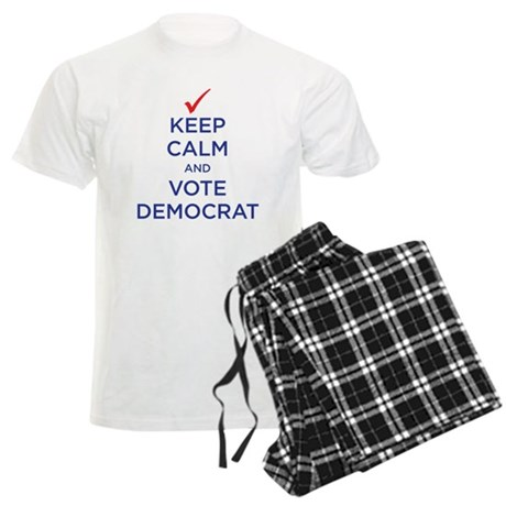vote democrat Men's Light Pajamas