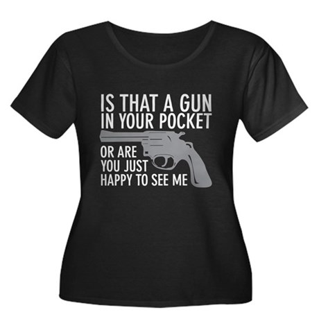 gun in your pocket Women's Plus Size Scoop Neck Da
