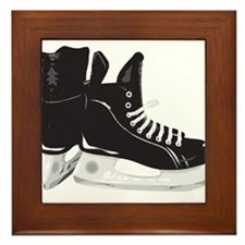 Hockey Skates Framed Tile