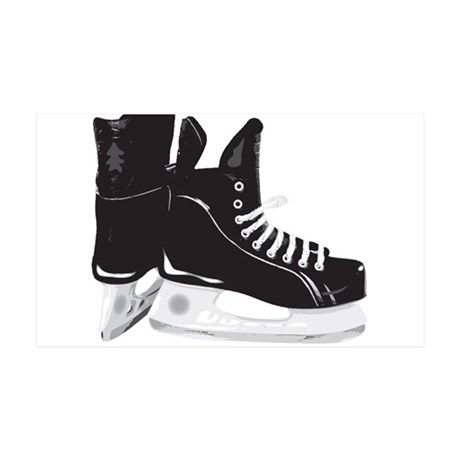 Hockey Skates 35x21 Wall Decal