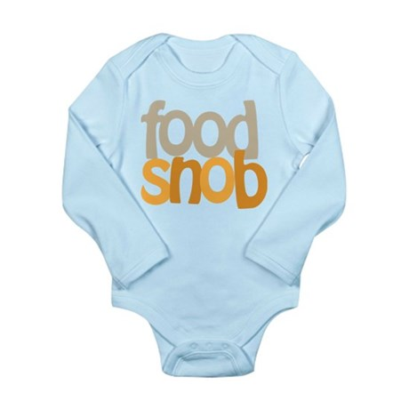 Food Snob Long Sleeve Infant Bodysuit