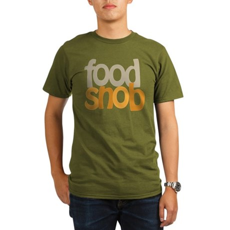 Food Snob Organic Men's T-Shirt (dark)