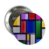 "Abstract Glimmer fashion rectangles 2.25"" Button"