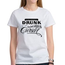 Talking In Cursive Tee