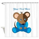 Baby Boy Mouse Blue Sleeper Shower Curtain