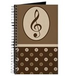 Music Practice Journal Treble Clef Journal
