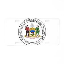 Delaware State Seal Aluminum License Plate