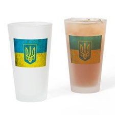 Vintage Ukraine Flag Drinking Glass