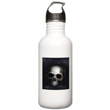 Real Goth Skull Water Bottle