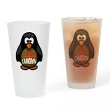 Cameron Tartan Penguin Drinking Glass