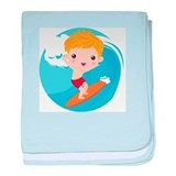 Surfer Boy baby blanket