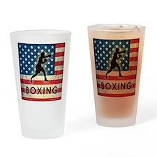 Grunge USA Boxing Drinking Glass
