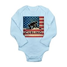 Grunge USA Curling Long Sleeve Infant Bodysuit