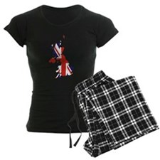 Great Britain Outline map Union Jack flag Pajamas