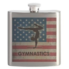 Grunge USA Gymnastics Flask