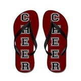 Cheer Red and black Flip Flops